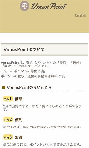 ヴィーナスポイントについて