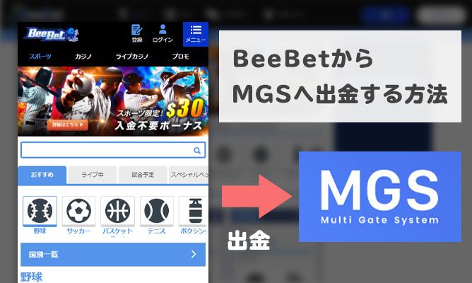 BeeBetの出金方法